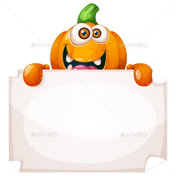 Pumpkin Characters Advertisement - Food Objects