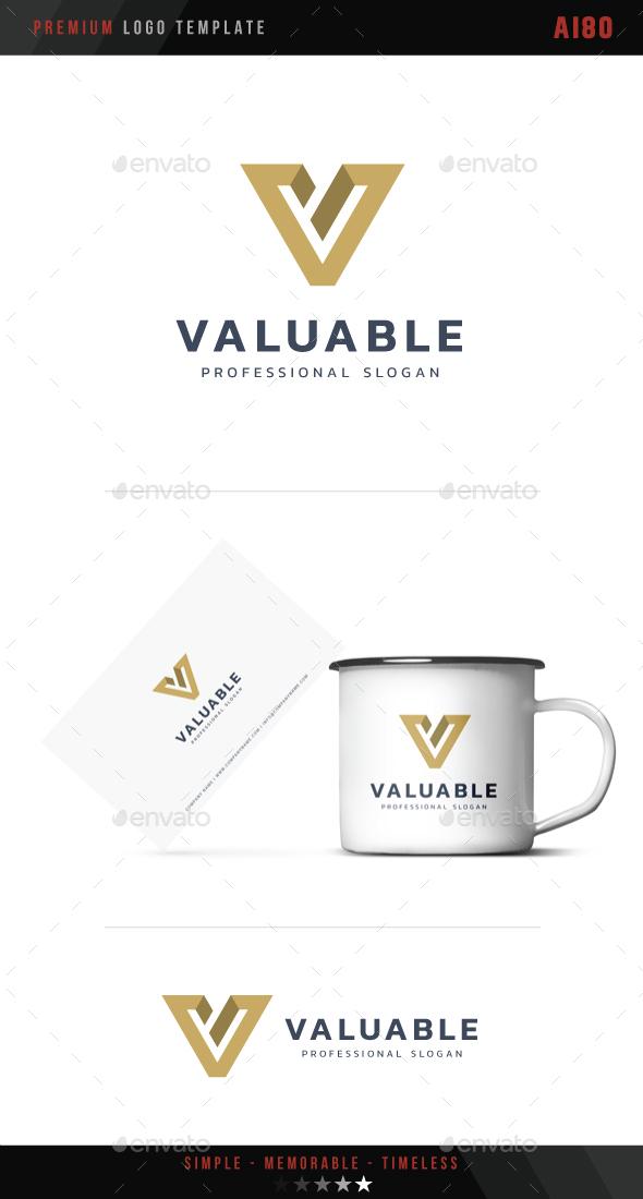 Letter V - Valuable Logo - Letters Logo Templates
