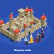Medieval Castle Isometric Cimposition