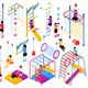 Isometric Playground Elements Collection