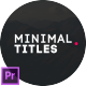 Minimal Titles for Premiere Pro | Essential Graphics - VideoHive Item for Sale