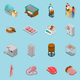 Isometric Butchery Icons Collection
