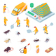 Isometric Pest Control Set - GraphicRiver Item for Sale