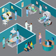 Hospital Rooms Isometric Composition - GraphicRiver Item for Sale