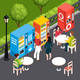 Vending Machines Isometric Illustration - GraphicRiver Item for Sale