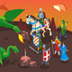 Medieval Heroes Isometric Composition - GraphicRiver Item for Sale