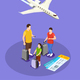 Traveling People Isometric Composition