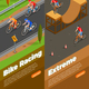 Cyclists Isometric Vertical Banners - GraphicRiver Item for Sale