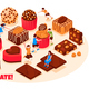 Chocolate Products Vector Illustration