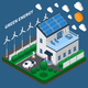 Eco Electricity Isometric Composition - GraphicRiver Item for Sale