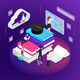 E-Learning Isometric Composition - GraphicRiver Item for Sale