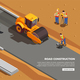 Road Construction Isometric Composition - GraphicRiver Item for Sale