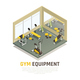 Exercise Equipment Isometric Composition - GraphicRiver Item for Sale