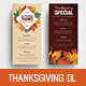 Thanksgiving DL Menu Flyer - GraphicRiver Item for Sale