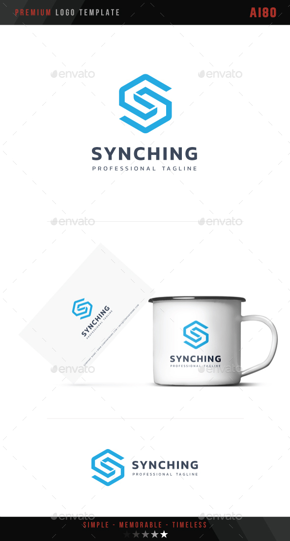 Letter S - Synching Logo - Letters Logo Templates