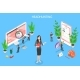 Headhunting and Recruitment Isometric Flat Vector