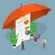 Insurance Options Isometric Flat Vector Conceptual - GraphicRiver Item for Sale