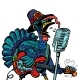 Thanksgiving Turkey Character Singer