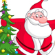 Santa with Christmas Tree - GraphicRiver Item for Sale