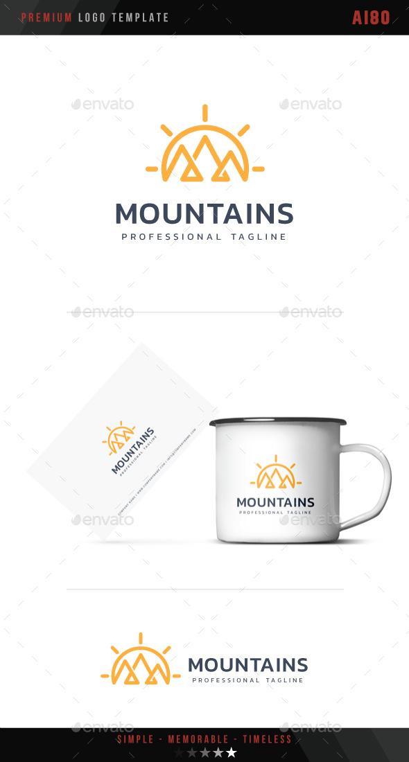 Mountains Logo - Nature Logo Templates