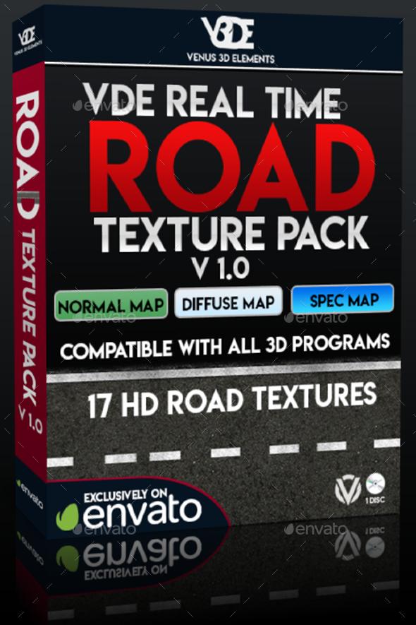 VDE Real Time Road Texture Pack v1.0 - 3DOcean Item for Sale