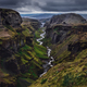 Landscape view of Thorsmork mountains canyon and river, Iceland - PhotoDune Item for Sale