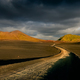 Landscape view of Lndmannalaugar volcanic mountains and the road, Iceland - PhotoDune Item for Sale