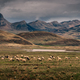 Dramatic rural mountain landscape with sheep in the foreground, Tibet - PhotoDune Item for Sale
