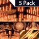 Fire Streak Background 5 Pack - VideoHive Item for Sale