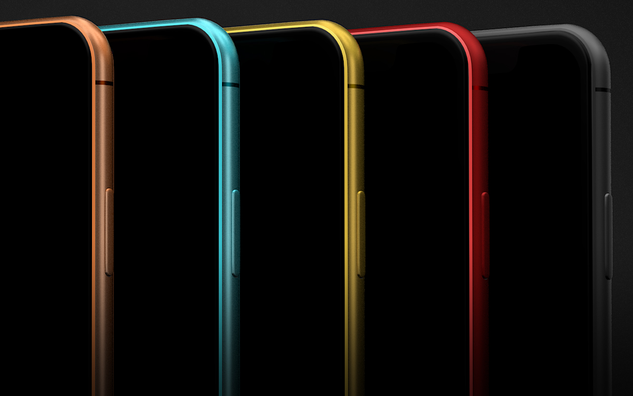 IPhone XR 3D Model in 5 Colors