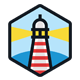 Hexagonal Lighthouse Logo - GraphicRiver Item for Sale