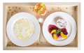 Rice porridge with muffin and juice. - PhotoDune Item for Sale