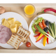 Toasts with vegetables and juice. - PhotoDune Item for Sale