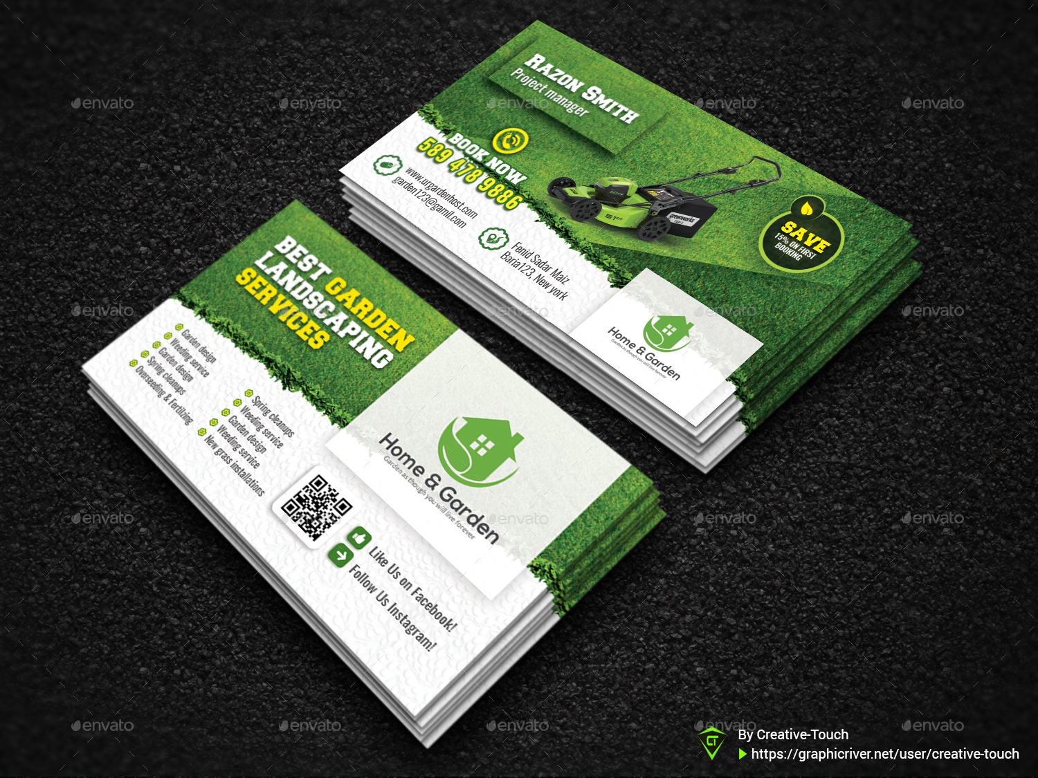 Garden landscape business card template by creative touch graphicriver garden landscape business card template business cards print templates 01screenshotg fbccfo Image collections