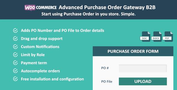 WooCommerce Purchase Order Gateway B2B - CodeCanyon Item for Sale