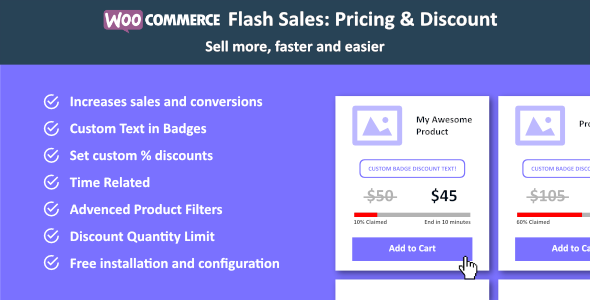 WooCommerce Flash Sales - Increase Black Friday & Cyber Monday Sales - CodeCanyon Item for Sale