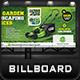Garden Landscape Billboard Template - GraphicRiver Item for Sale