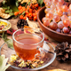 Cup of tea with autumn leaves - PhotoDune Item for Sale