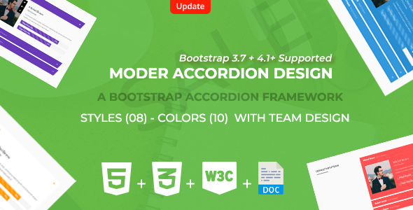 Bootstrap  Responsive Accordion Framework