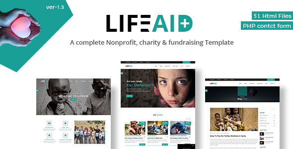 LifeAid - Multipurpose Charity Non-Profit Responsive Template - Charity Nonprofit