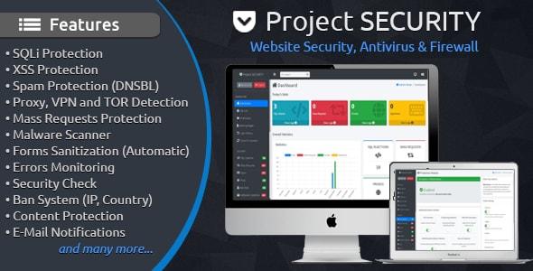 Project SECURITY – Website Security, Antivirus & Firewall