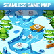 Winter Seamless Game Map - GraphicRiver Item for Sale