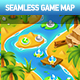 Island Palm Seamless Game Map