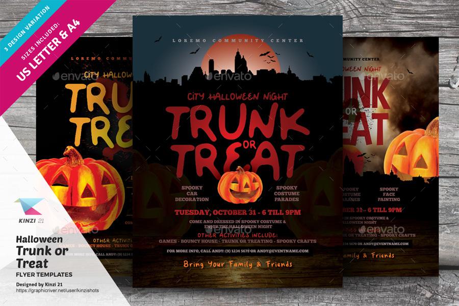 Trunk Or Treat Flyer Template | Halloween Trunk Or Treat Flyer Templates By Kinzishots Graphicriver