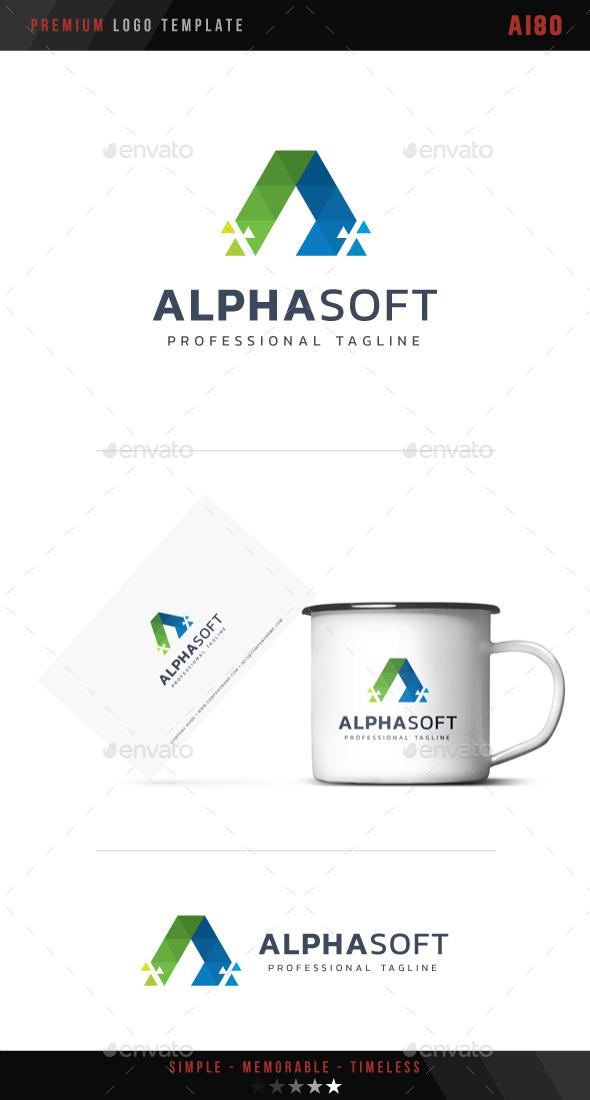 Letter A - Alpha Soft Logo - Abstract Logo Templates