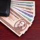 Hungarian Forint in the black wallet  - PhotoDune Item for Sale