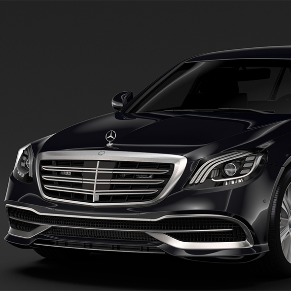 Mercedes Maybach S 650 Pullman Guard VV222 2018 - 3DOcean Item for Sale