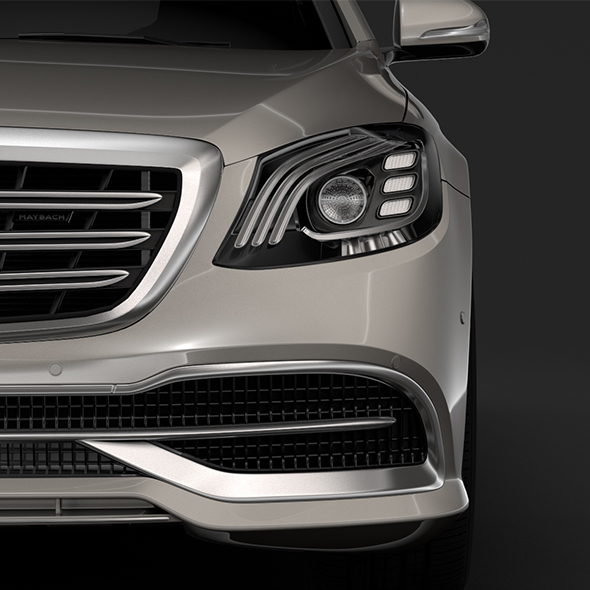 Mercedes Maybach S 560 4Matic X222 2018 - 3DOcean Item for Sale
