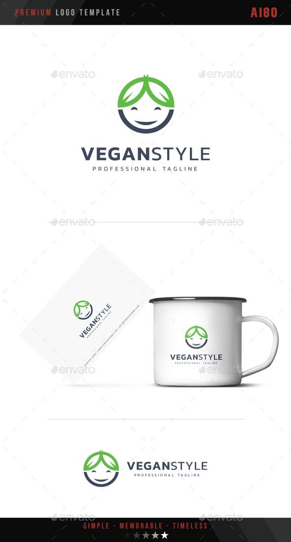 Vegan Style Logo - Humans Logo Templates