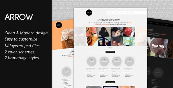Arrow: Business Portfolio PSD Template